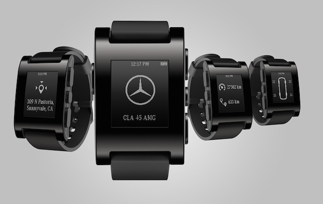 Zegarek podłącz do Mercedesa: Pebble Watch