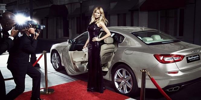 Heidi Klum we współpracy z Maserati