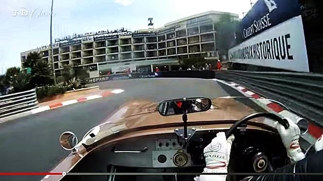 Doskonały przejazd klasycznym Jaguarem po torze w Monaco