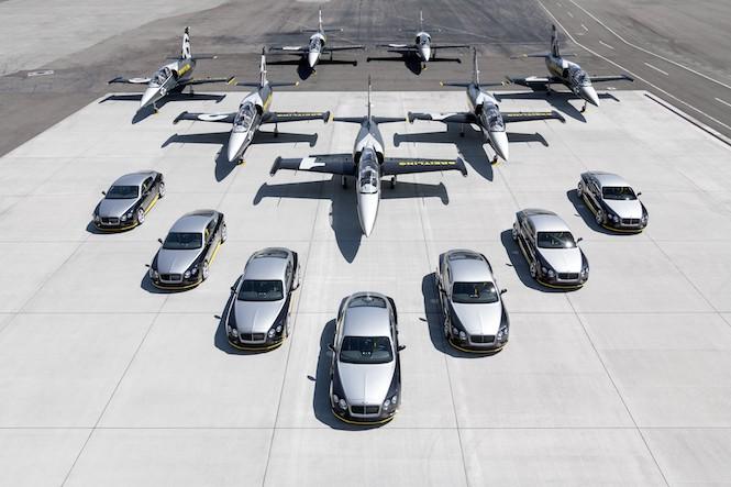 Bentley z Breitlingiem w jednym stali... hangarze