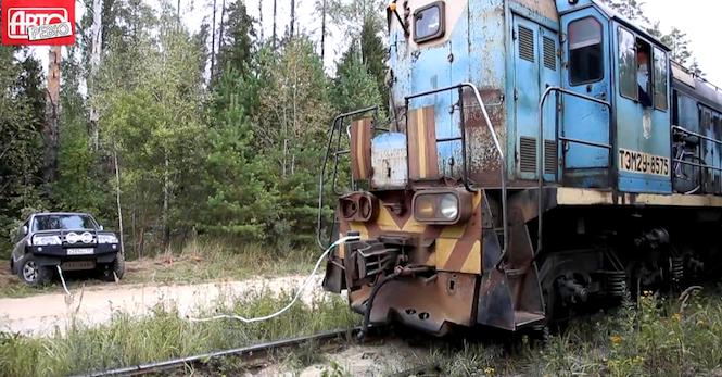 Złociutki w pociągu i terenówka!