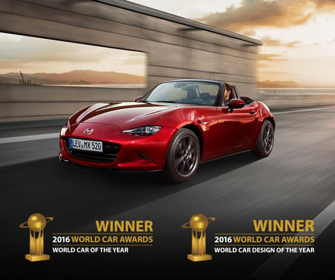 Mazda MX-5 samochodem roku WORLD CAR OF THE YEAR 2016!