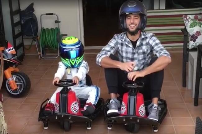 7-letni syn Felipe Massy ściga się z Danielem Ricciardo - HIT!