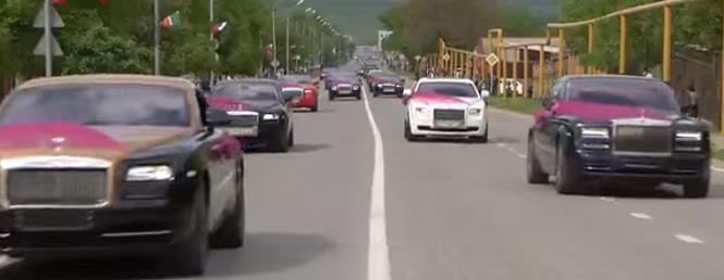 Czeczeński ślub - AMG, Rollsy, dużo Rollsów... Hajs się zgadza!