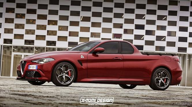 Alfa Romeo Giulia jako... pikap?! Wejdzie do produkcji?