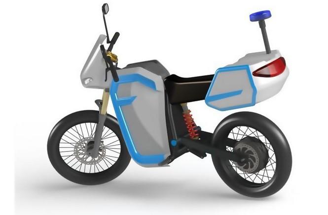 Polscy studenci pracują nad elektrycznym motocyklem dla policji