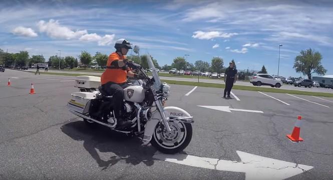 Tak wygląda szkolenie amerykańskich policjantów-motocyklistów