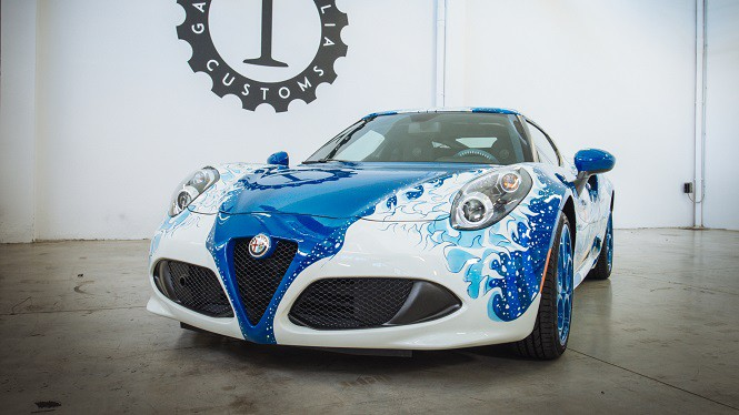 Alfa Romeo 4C Hokusai od Garage Italia Customs