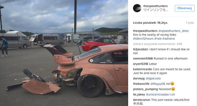 Porsche RWB rozbite podczas wyścigu w Japonii [ZDJĘCIA]