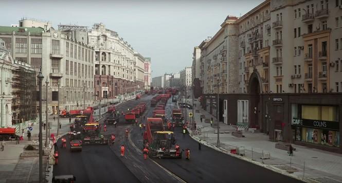 Tak naprawia się ulice w Moskwie