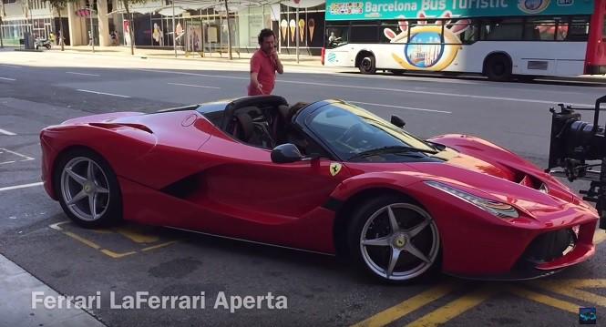 Ferrari LaFerrari Aperta złapane w Barcelonie