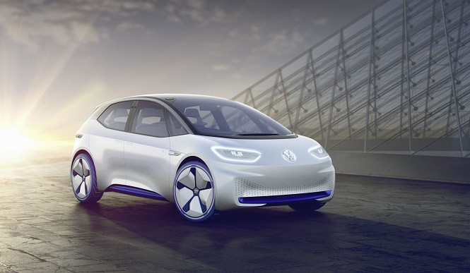 Volkswagen I.D. Electric Concept na salonie samochodowym w Paryżu