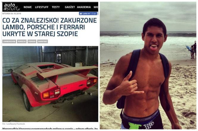 Oto chłopak który znalazł stare Lambo i Porsche o których pisaliśmy [ZDJĘCIA]