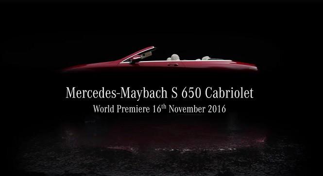 Mercedes-Maybach S 650 Cabriolet: premiera już za kilka dni