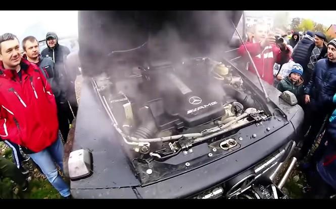 Katowanie Mercedesa G63 AMG w terenie