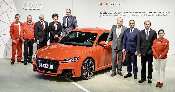 Audi Hungaria przekracza milionowy próg
