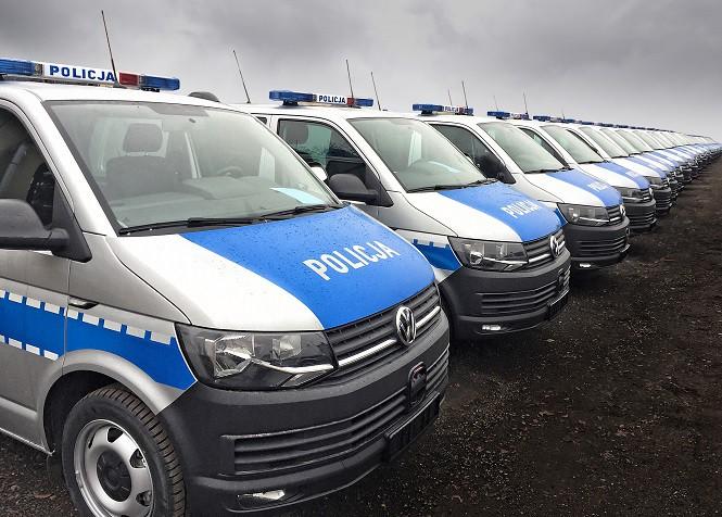 Nowe Volkswageny Transportery dla policji