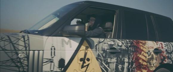 Range Rover - streetartowa fura