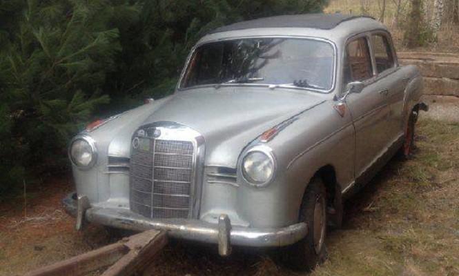 Zbierając złom ukradł zabytkowego Mercedesa