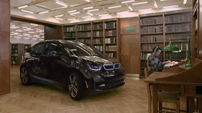 Nietypowa reklama BMW. i3 w... bibliotece?