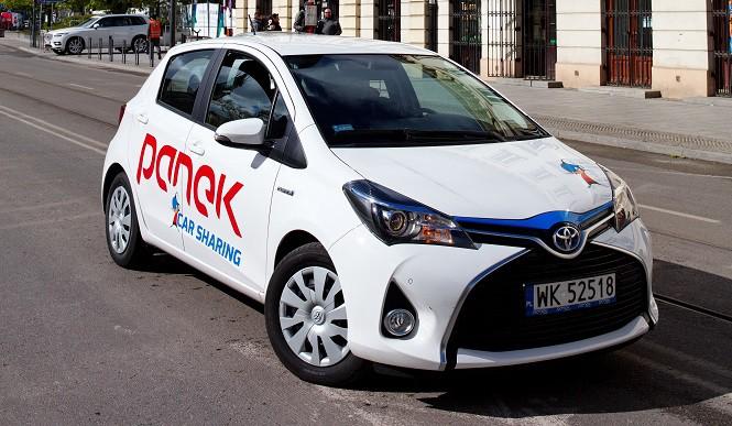 Toyota Yaris Hybrid już dostępna w systemie Panek CarSharing