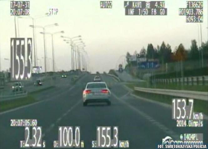 """Pędził z prędkością 155 km/h na """"siedemdziesiątce"""" - stracił prawo jazdy na trzy miesiące"""
