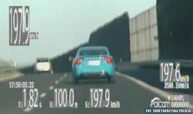 Pędził z prędkością 200 km/h - nie wie co w niego wstąpiło