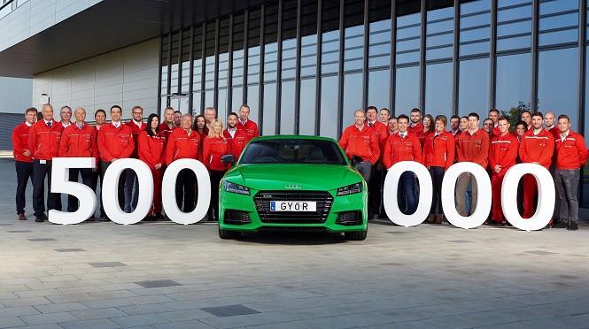 """Jubileusz w Audi Hungaria: z taśmy zjechało półmilionowe Audi """"made in Győr"""""""