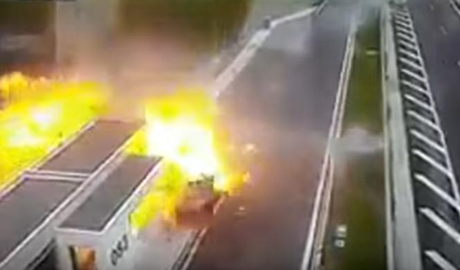Przerażający wypadek na greckiej autostradzie!