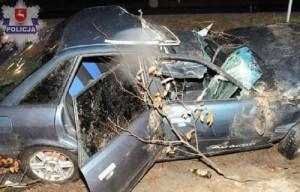 Alkohol, brawura i brak wyobraźni przyczyną wypadku Audi