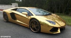 Złote Lamborghini Aventador Roadster na sprzedaż