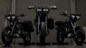 Motocykle Harley-Davidson 1200 Roadster w wersji off-road zbudowane dla Pustynnych Wilków