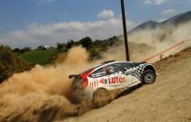 Kajto z Baranem na podium Acropolis Rally 2014