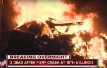 Baterie Tesli zapaliły się po wypadku