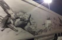 Polska ciężarówka zachwyciła brytyjskich policjantów pięknymi malowidłami!