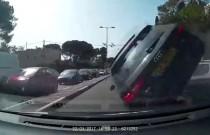Kaskaderski popis izraelskiego kierowcy Audi A3