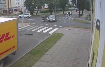 Wypadek we Włocławku - auto nie ustąpiło pierwszeństwa motocykliście