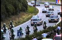 Przejazd kolumny prezydenckiej Michaiła Gorbaczowa przez Stuttgart w 1989 roku