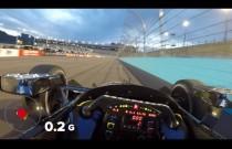Zobacz przejazd autem IndyCar po owalnym torze z perspektywy kierowcy