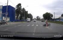 Motocykl skosił kobietę na przejściu dla pieszych