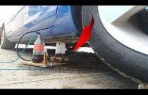 Podnośnik hydrauliczny ze strzykawek