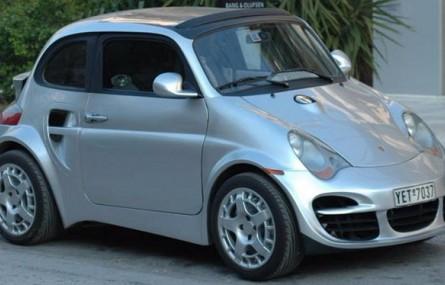 Fiat 500 przerobiony na Porsche 911